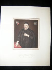 Ackermann History of Oxford 1815 Hand Col Portrait. Richard Wightwick